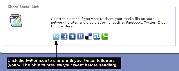 Publishing Audio to Social Networks: Twitter
