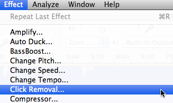 Audacity: Click Removal (Mac OS X)