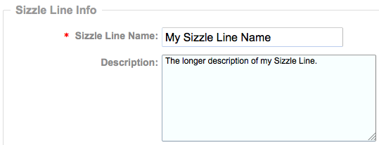 Sizzle Line Name