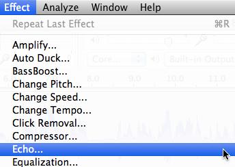 Audacity: Echo (Mac OS X)