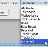 Audacity >> Equalization >> Select Curve >> Dropdo