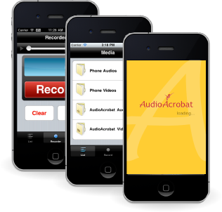 AudioAcrobat iPhone App for Coaches