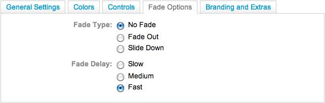 Fade Options