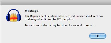 Audacity: Repair Vinyl Pops and Clicks (Mac OS X)