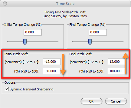 Audacity: Sliding Time Scale / Pitch Shift (Windows 7) | AudioAcrobat