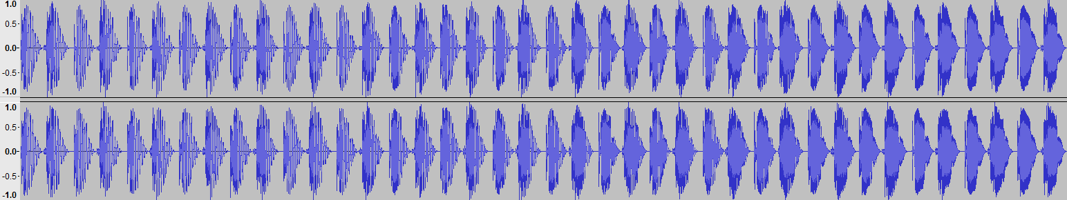 Audacity >> Waveform >> Test 2: Pitch