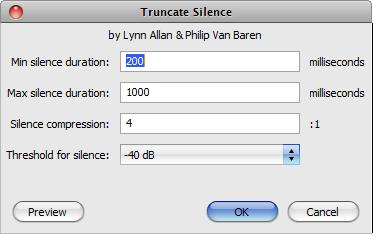 Audacity-Effect-Truncate Silence-Popup