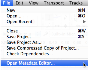Audacity: How To Add MP3 Metadata (Mac OS X)