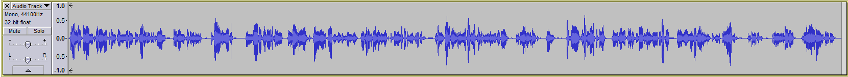 Audacity >> Waveform >> Spoken Word Track