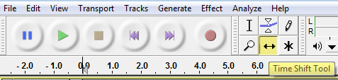 Audacity >> Time Shift Tool
