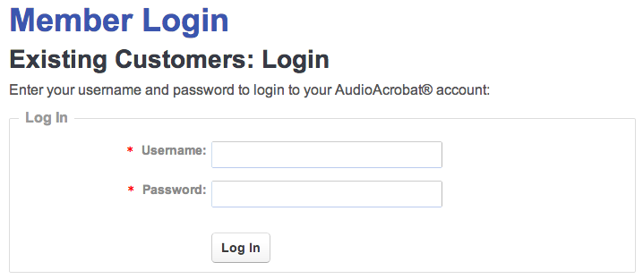 AudioAcrobat Login