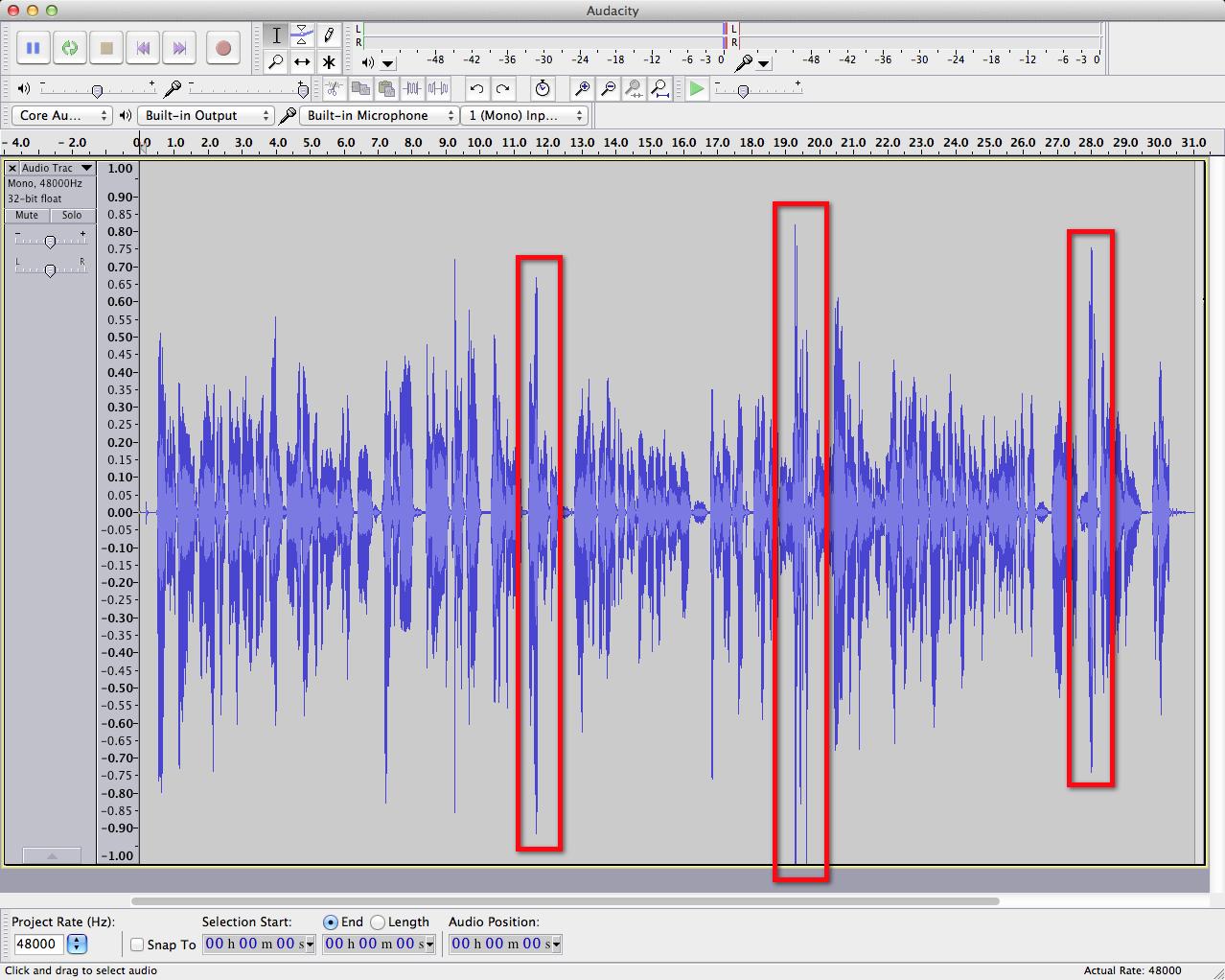 audacity waveform-peaks