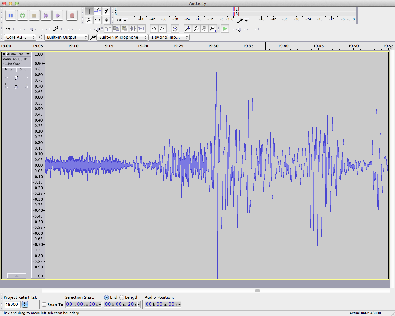 audacity waveform-zoomed in