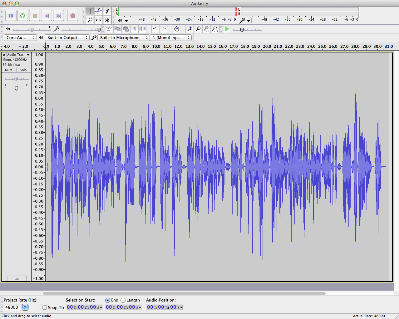 audacity waveform-mixed rendered