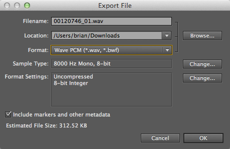 Adobe Audition-Export File