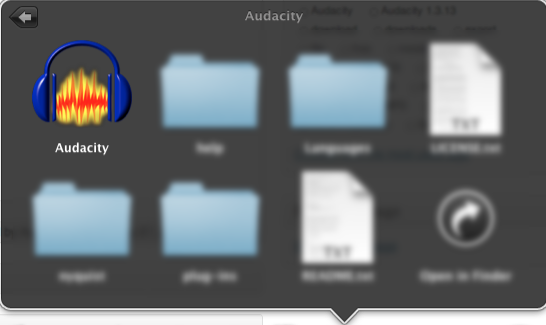 Applications-Audacity Folder-Open