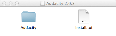 Audacity-in Finder