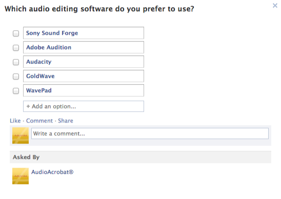 facebook question-audio editing