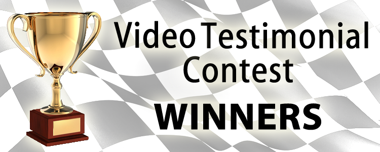 [Announcement] Video Testimonial Contest Winners