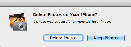 delete photos or keep photos