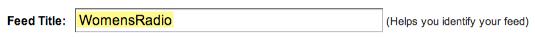 Google FeedBurner Feed Title aka FeedBurner ID